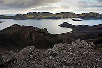 Útsýni frá Breiðbak yfir Langasjó og Fögrufjöll. View from mount Breidbakur over lake Langisjor and Fogrufjoll mountains.