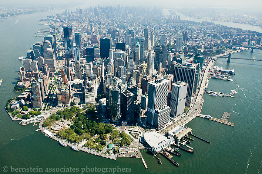 Manhattan, New York, NY, NYC, city, skyline, buildings, aerial, boats, water, East River, Hudson River, sky, clouds, travel, destination, tourism