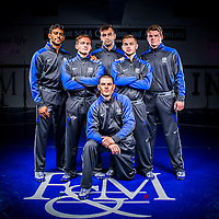 "Collegiate Athletic Portraiture for Franklin & Marshall College for marketing & advertising. F&M's Division I Wrestling program developed a Campaign titled ""Step to the Line"". I was asked to photograph their Seniors and some detail images to help promote their program."