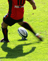 Illustration of the Gilbert's ball during the French Top 14 Rugby Match, Montauban vs Toulon on Sunday to cap a memorable week for the south-western club at the Sapiac stadium in Montauban, France on September 6, 2009.