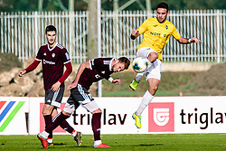 Aljosa Matko of NK Bravo and Ozbej Kuhar of NK Triglav during football match between NK Triglav Kranj and NK Bravo in 17th Round of Prva liga Telekom Slovenije 2019/20, on November 10, 2019 in Sport Park Kranj, Kranj, Slovenia. Photo Grega Valancic / Sportida