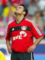 Fussball 1. Bundesliga Saison 2003/2004  Yildiray BASTUERK mit enttaeuschtem Blick BAYER 04 LEVERKUSEN