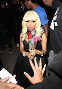 21.JANUARY.2011. LONDON<br /> <br /> NICKI MINAJ ARRIVING AT STUDIO VALBONE NIGHT CLUB AT 1.30AM BEFORE LEAVING AT 3.00AM.<br /> <br /> BYLINE: EDBIMAGEARCHIVE.COM<br /> <br /> *THIS IMAGE IS STRICTLY FOR UK NEWSPAPERS AND MAGAZINES ONLY*<br /> *FOR WORLD WIDE SALES AND WEB USE PLEASE CONTACT EDBIMAGEARCHIVE - 0208 954 5968*