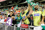 Pakistan's fans enjoying the teams performanceduring the International T20 match between England and Pakistan at the Emirates, Old Trafford, Manchester, United Kingdom on 7 September 2016. Photo by Craig Galloway.