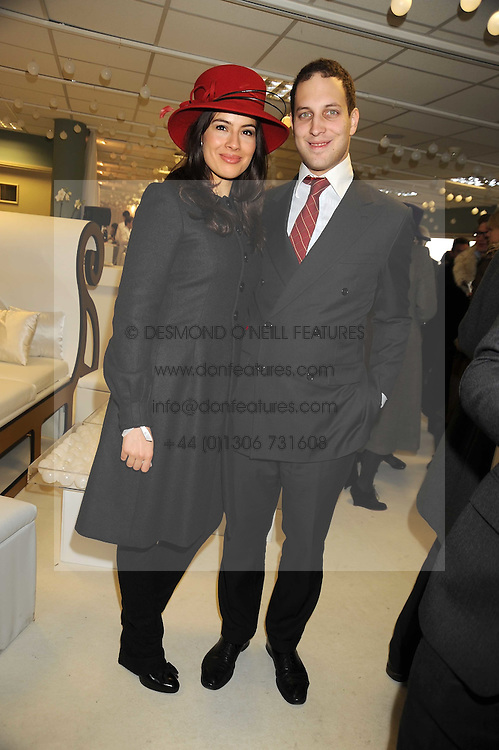 LORD FREDERICK WINDSOR and SOPHIE WINKLEMAN at the 2008 Hennessy Gold Cup held at Newbury racecourse, Berkshire on 29th November 2008.<br /> <br /> NON EXCLUSIVE - WORLD RIGHTS