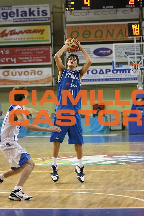 DESCRIZIONE : Rethimnon Crete Termosteps U16 European Championship Men Qualifying Round Israel Italy<br /> GIOCATORE : Amici<br /> SQUADRA : Italy Italia Nazionale Italiana Uomini Under 16<br /> EVENTO : Rethimnon Crete Termosteps U16 European Championship Men Creta Europeo U16 Uomini <br /> GARA :  Israel Italy Israele Italia<br /> DATA : 26/07/2007 <br /> CATEGORIA : Tiro<br /> SPORT : Pallacanestro <br /> AUTORE : Agenzia Ciamillo-Castoria/M.Marchi <br /> Galleria : Europeo Under 16 <br /> Fotonotizia : Rethimnon Crete Termosteps U16 European Championship Men Qualifying Round Iseael Italy<br /> Predefinita :