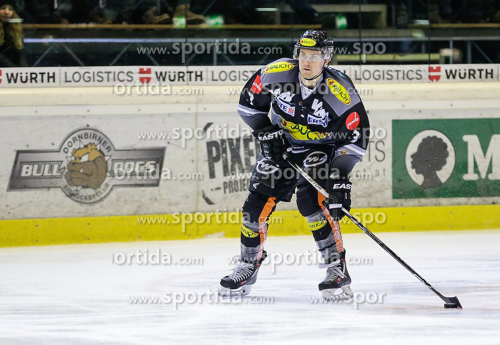 28.02.2016, Messestadion, Dornbirn, AUT, EBEL, Dornbirner Eishockey Club vs HC Orli Znojmo, Viertelfinale, 2. Spiel, im Bild Andrew Mackenzie, (Dornbirner Eishockey Club, #03)// during the Erste Bank Icehockey League 2nd quarterfinal match between Dornbirner Eishockey Club and HC Orli Znojmo at the Messestadion in Dornbirn, Austria on 2016/02/28, EXPA Pictures © 2016, PhotoCredit: EXPA/ Peter Rinderer