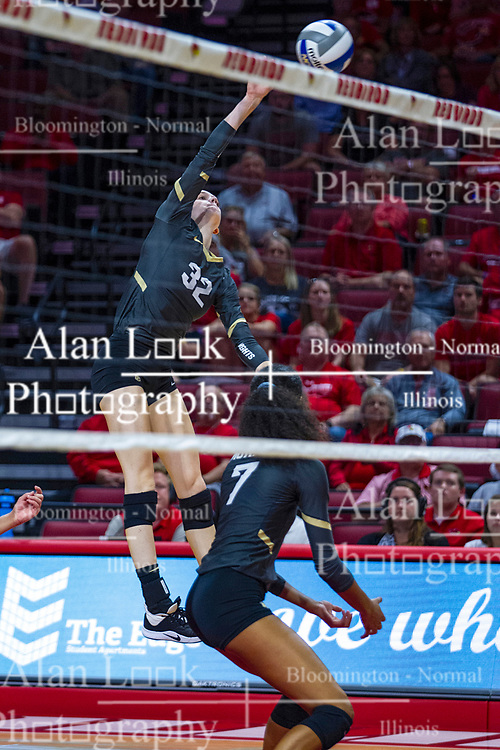 BLOOMINGTON, IL - September 14: Anne-Marie Watson during a college Women's volleyball match between the ISU Redbirds and the University of Central Florida (UCF) Knights on September 14 2019 at Illinois State University in Normal, IL. (Photo by Alan Look)