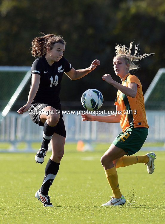 Meikayla Moore. New Zealand Junior Football Ferns v Australia Young Matildas. Women's U20 International. Match 3. Seddon Fields, Auckland. Monday 29 July 2013. Photo: Andrew Cornaga/www. Photosport.co.nz