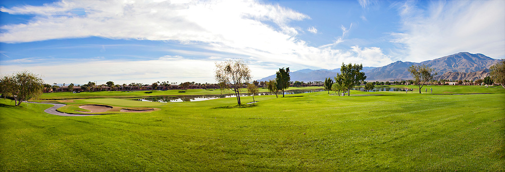Panorama of golf course