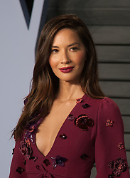 March 4, 2018 - Beverly Hills, California, U.S - Olivia Munn on the red carpet of the 2018 Vanity Fair Oscar  Party held at the Wallis Annenberg Center in Beverly Hills,  California on Sunday March 4, 2018. (Credit Image: © Prensa Internacional via ZUMA Wire)