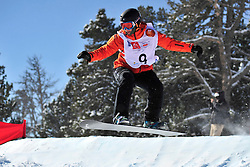 Snowboarder Cross Action, MENTEL-SPEE Bibian, NED at the 2016 IPC Snowboard Europa Cup Finals and World Cup