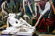 Sculpture and painting of permanent collection of Granet museum in Aix-en-Provence, France.