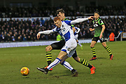 Bristol Rovers Rory Gaffney (30) attempts a shot on goal during the EFL Sky Bet League 1 match between Bristol Rovers and Doncaster Rovers at the Memorial Stadium, Bristol, England on 23 December 2017. Photo by Gary Learmonth.