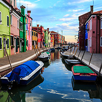 The colorful building of Burano, Italy, 2014