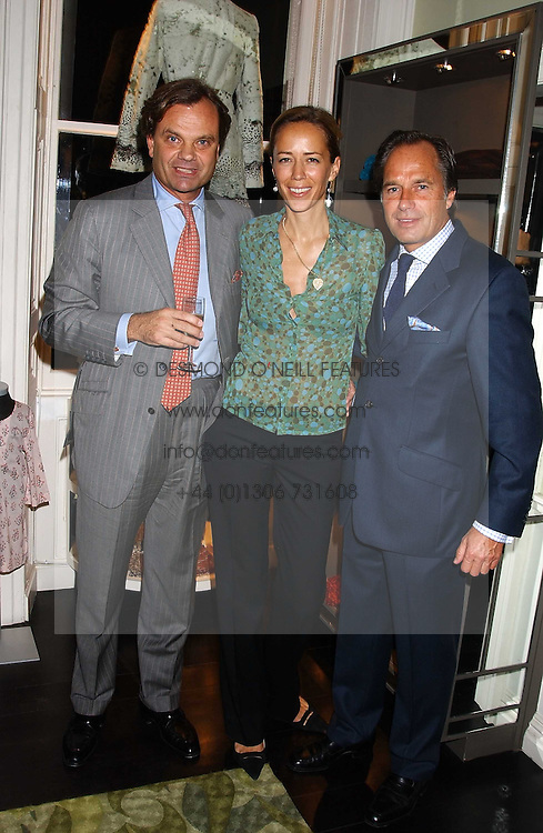 Left to right, HEINRICH ADAMI, ALEXANDRA ADAMI and HENDRIK teNEUES at a party in aid of CLIC Sargent the childrens cancer charity to celebrate the publication of Beautiful Christmas Cards by Alexandra Adami hsted by Hendrik teNeues and Allegra Hicks at Allegra Hicks, 28 Cadoan Square, London on 12th October 2005.<br /><br />NON EXCLUSIVE - WORLD RIGHTS