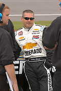 Jun 18, 2005; Brooklyn, MI, USA; Bobby Labonte gets ready to qualify for the Craftsman Truck Series      at Michigan International speedway.