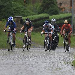 21-07-2016: Wielrennen: Thueringen Rundfahrt vrouwen: Gera <br />GERA (DLD) wielrennen   <br />Kopgroep in actie op een kasseien klim in de voormalige DDR
