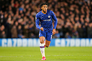 Chelsea defender Reece James (24) during the Champions League match between Chelsea and Bayern Munich at Stamford Bridge, London, England on 25 February 2020.