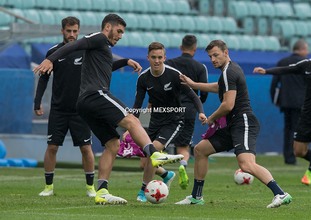 Michael Boxall, Training session, New Zealand Team ahead of their match with Mexio, Group A, FIFA Confederations Cup Russia 2017 at Olimpiyskiy Stadion Fisht, Sochi, Russia. 20 June 2017. Image: MEXSPORT/David Leah / www.photosport.nz