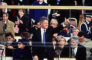 Bill Clinton gives a thumbs up at the Inauguration of William Jefferson Clinton on January 20, 1993 at the US Capitol. ..Photograph by Dennis Brack BBBs 20