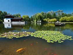 Chinese Garden at the Garten der Welt in Marzahn district of Berlin Germany