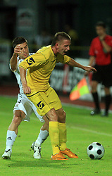 Zoran Zeljkovic (14) of Interblock vs Janez Aljancic  (3) of Domzale at Slovenian Supercup between NK Domzale and NK Interblock, on July 9, 2008, in Domzale. Interblock won the mach and Supercup 7:6 after penalty shots.. (Photo by Vid Ponikvar / Sportal Images)