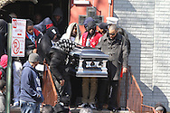 The  funeral for 16-year-old police slaying victim Kimani Gray at St. Catherine of Gent Church, in Brooklyn.