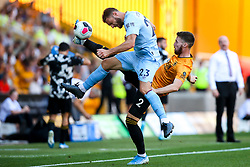 Matt Doherty of Wolverhampton Wanderers takes on Erik Pieters of Burnley - Mandatory by-line: Robbie Stephenson/JMP - 25/08/2019 - FOOTBALL - Molineux - Wolverhampton, England - Wolverhampton Wanderers v Burnley - Premier League