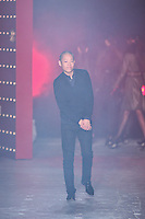 Jason Wu walks down runway for F2012 Jason Wu's collection in Mercedes Benz fashion week in New York on Feb 10, 2012 NYC