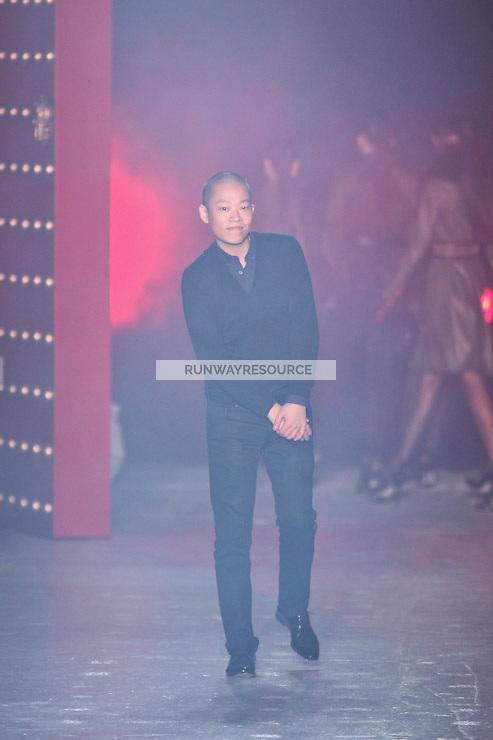 Jason Wu walks down runway for F2012 Jason Wu's collection in Mercedes Benz fashion week in New York on Feb 10, 2012 NYC