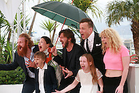 Lisa Loven Kongsli, Clara Wettergren, Ruben Ostlund, Vincent Wettergren, Johannes Bah Kuhnke and Kristofer Hivju at the photo call for the film Turist at the 67th Cannes Film Festival, Monday 19th May 2014, Cannes, France.