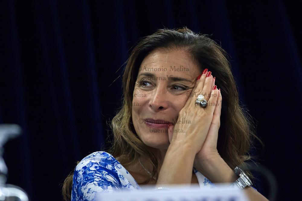 Patrizia Di Dio, presidente di ConfCommercio Palermo durante un convegno a Palermo.