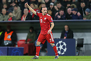 Bayern Munich midfielder Franck Ribery (7) pointing, directing, signalling during the Champions League match between Bayern Munich and Liverpool at the Allianz Arena, Munich, Germany, on 13 March 2019.