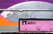 Street art painted on a truck, Bushwick, Brooklyn, New York City.