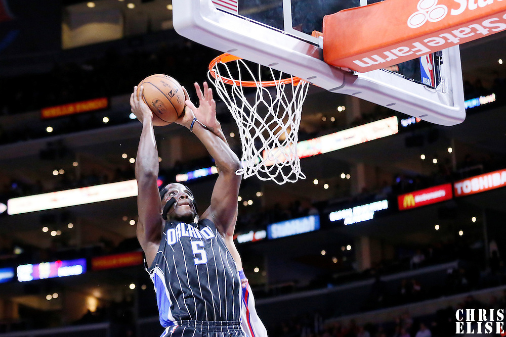 03 December 2014: Orlando Magic guard Victor Oladipo (5) goes for the dunk during the Los Angeles Clippers 114-86 victory over the Orlando Magic, at the Staples Center, Los Angeles, California, USA.