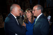 NICHOLAS COLERIDGE; SARAH MILLER; LOYD GROSSMAN, Conde Nast Traveller Innovation and Design Awards. St. Pancras Renaissance Marriot Hotel. London. 10 May 2011. <br /> <br />  , -DO NOT ARCHIVE-© Copyright Photograph by Dafydd Jones. 248 Clapham Rd. London SW9 0PZ. Tel 0207 820 0771. www.dafjones.com.