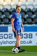 Joanne Love (#6) of Scotland ahead of the 2019 FIFA Women's World Cup UEFA Qualifier match between Scotland Women and Switzerland at the Simple Digital Arena, St Mirren, Scotland on 30 August 2018.