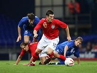 Photo: Chris Ratcliffe.<br /> England U21 v Moldova U21. European Championship Qualifier. 15/08/2006.<br /> David Nugent of England U21 gets away from the Moldovan defence.
