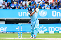 Jonny Bairstow of England nearly inside edges onto his own stumps but ends up getting four runs - Mandatory by-line: Robbie Stephenson/JMP - 30/06/2019 - CRICKET - Edgbaston - Birmingham, England - England v India - ICC Cricket World Cup 2019 - Group Stage