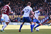 Bury Forward, Ryan Lowe (39) and Bury Forward, George Miller (29) during the EFL Sky Bet League 1 match between Bury and Northampton Town at the JD Stadium, Bury, England on 22 April 2017. Photo by Mark Pollitt.