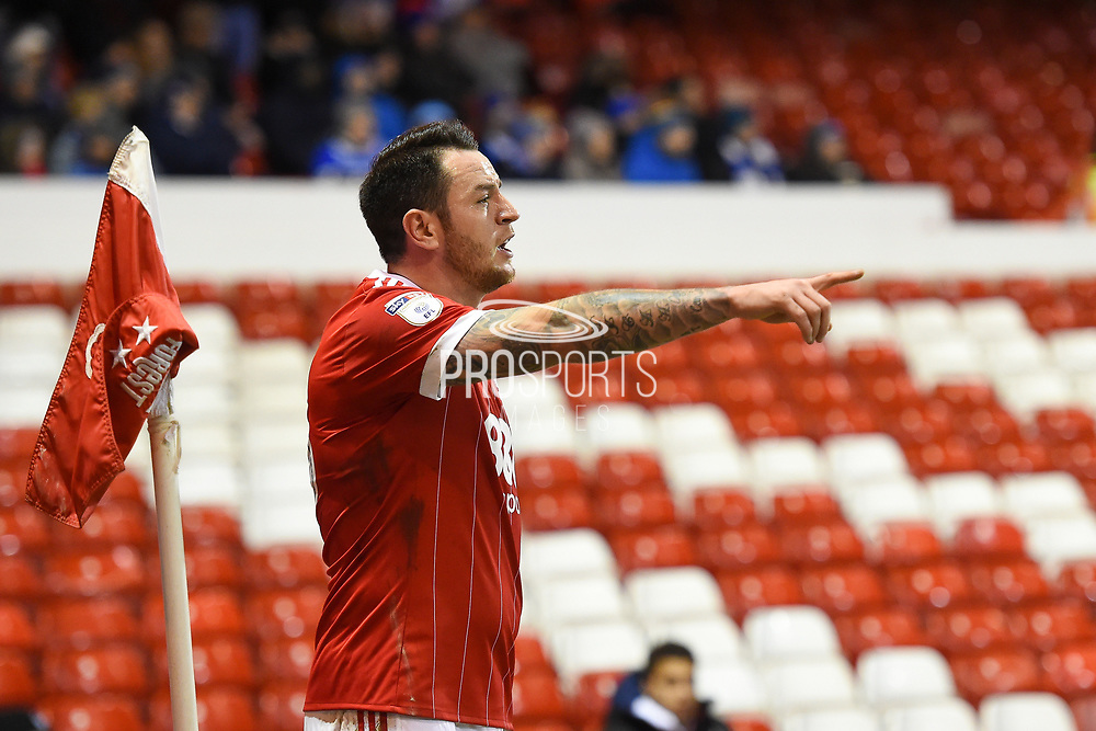 Nottingham Forest forward Lee Tomlin (15) during the EFL Sky Bet Championship match between Nottingham Forest and Reading at the City Ground, Nottingham, England on 20 February 2018. Picture by Jon Hobley.
