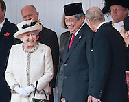 "STATE VISIT BY THE PRESIDENT OF THE REPUBLIC OF INDONESIA .AND MRS YUDHOYONO.receive a Ceremonial Welcome on Horse Guards Parade, where The Queen, accompanied by The Duke of Edinburgh, formally greeted them. .The President of the Republic of Indonesia, Dr Susilo Bambang Yudhoyono, accompanied by The Duke of Edinburgh, then reviewed a Guard of Honour_London_31/10/2012.Mandatory Credit Photo: ©A Harlen/NEWSPIX INTERNATIONAL..**ALL FEES PAYABLE TO: ""NEWSPIX INTERNATIONAL""**..IMMEDIATE CONFIRMATION OF USAGE REQUIRED:.Newspix International, 31 Chinnery Hill, Bishop's Stortford, ENGLAND CM23 3PS.Tel:+441279 324672  ; Fax: +441279656877.Mobile:  07775681153.e-mail: info@newspixinternational.co.uk"