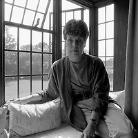 Ruth Rendell photographed in Suffolk<br /> 1988<br /> <br /> Picture by Flo Smith<br /> <br /> <br /> WORLD RIGHTS