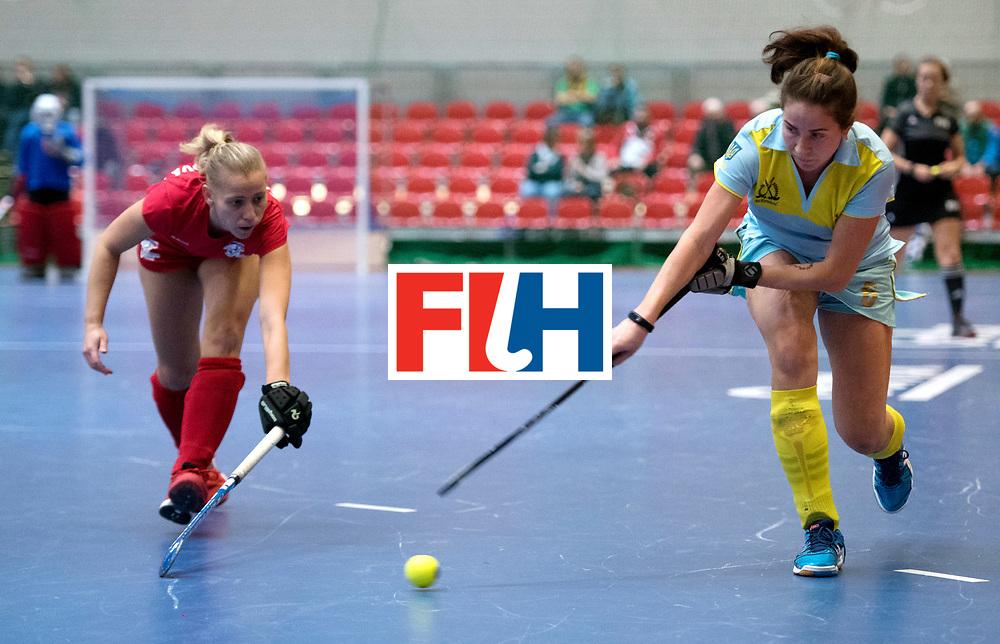 BERLIN - Indoor Hockey World Cup<br /> Women: Ukraine - Czech Republic<br /> foto: KERNOZ Yevheniya<br /> WORLDSPORTPICS COPYRIGHT FRANK UIJLENBROEK