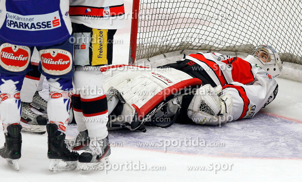 22.02.2015, Stadthalle, Villach, AUT, EBEL, EC VSV vs HC Orli Znojmo, Plazierungsrunde, im Bild Patrik Nechvatal (Znojmo) // during the Erste Bank Icehockey League placement round match between EC VSV vs HC Orli Znojmo at the City Hall in Villach, Austria on 2015/02/22, EXPA Pictures © 2015, PhotoCredit: EXPA/ Oskar Hoeher