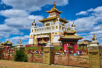 "Russie, Republique de Kalmoukie, Elista, Monastère d'or du Bouddha Shakyamuni // Russia, Republic of Kalmykia, Elista, Buddhist temple: ""Golden Abode of Buddha Shakyamuni"