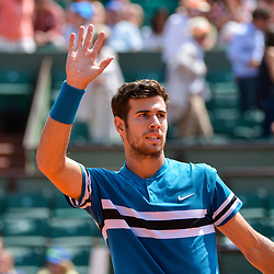 Karen Khachanov of Russia during Day 7 of the French Open 2018 on June 2, 2018 in Paris, France. (Photo by Baptiste Fernandez/Icon Sport)