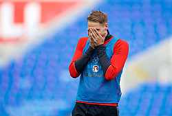 CARDIFF, WALES - Sunday, October 8, 2017: Wales' David Edwards during a training session at the Cardiff City Stadium ahead of the final 2018 FIFA World Cup Qualifying Group D match between Wales and Republic of Ireland. (Pic by David Rawcliffe/Propaganda)