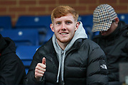 Ex AFC Wimbledon midfielder Alfie Eagan in the crowd giving a thumbs up during the Pre-Season Friendly match between AFC Wimbledon and Crystal Palace at the Cherry Red Records Stadium, Kingston, England on 30 July 2019.